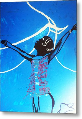 Dinka Dance - South Sudan Metal Print by Gloria Ssali