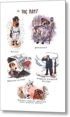 New Yorker August 14th, 2000 Metal Print by Barry Blitt