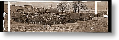 3rd Army Supply Train, And Motor Park Metal Print