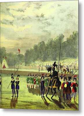 An Account Of The Tournament At Eglinton Metal Print by Litz Collection