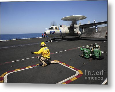An E-2c Hawkeye Launches Metal Print by Stocktrek Images