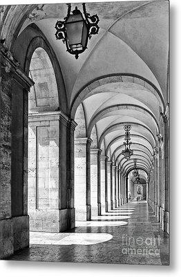 Arcades Of Lisbon Metal Print by Jose Elias - Sofia Pereira