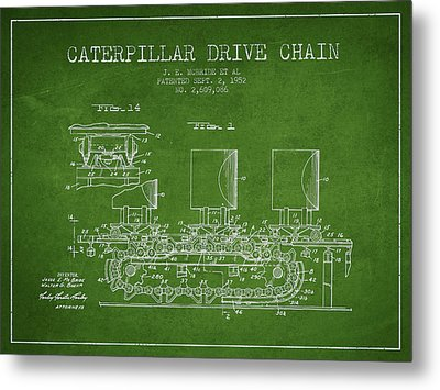 Caterpillar Drive Chain Patent From 1952 Metal Print by Aged Pixel