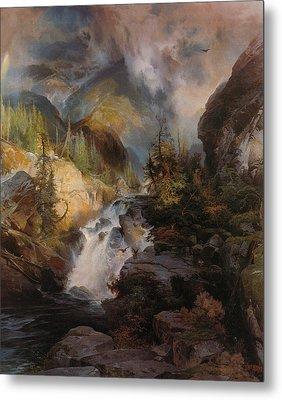 Children Of The Mountain Metal Print by Thomas Moran