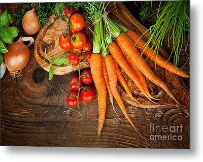 Fresh Vegetables Metal Print by Mythja  Photography