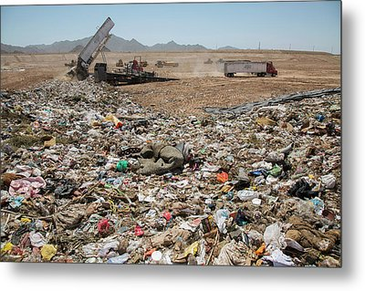 Landfill Waste Disposal Site Metal Print