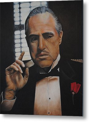 Marlon Brando The Godfather Metal Print by David Dunne