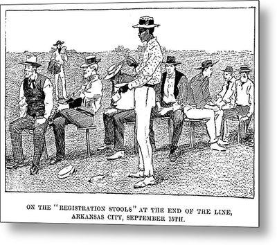 Oklahoma Land Rush, 1893 Metal Print by Granger