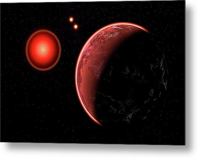 Proxima B Planet Orbiting The Proxima Metal Print