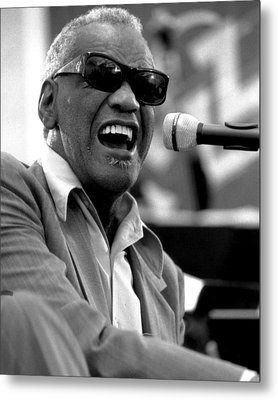 Ray Charles Metal Print by Retro Images Archive