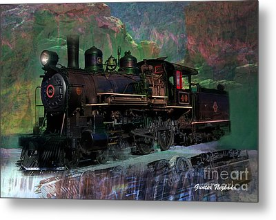 Steam Locomotive Metal Print by Gunter Nezhoda