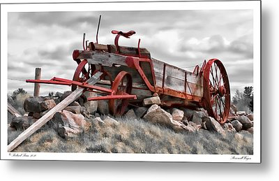 Stonewall Wagon Metal Print
