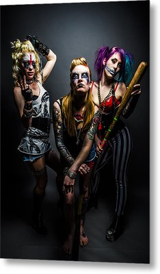 Team Violence Metal Print by Kyle James-Patrick