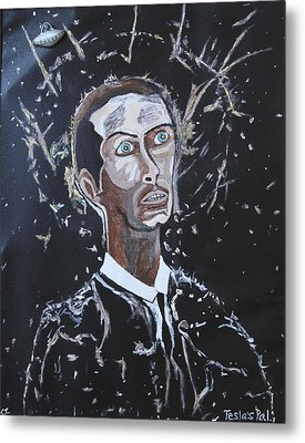 Metal Print featuring the painting Tesla's Pal. by Ken Zabel