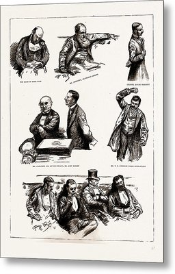 The Home Rule Debate In The House Of Commons Metal Print