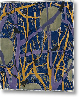 Anna Zaliski, Fine Art Of Nature. Trees And Birds Metal Print by Artokoloro