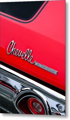 Chevrolet Chevelle Ss Taillight Emblem Metal Print by Jill Reger