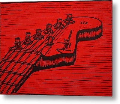Fender Strat Metal Print by William Cauthern