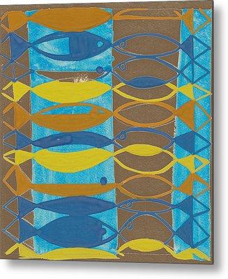 Karel Van Kooning, Dutch Expressionist Artist 20th Metal Print by Artokoloro