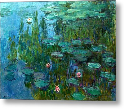 Metal Print featuring the painting Nympheas  by Claude Monet