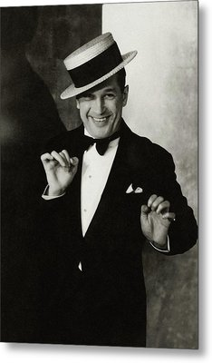 Portrait Of Maurice Chevalier Metal Print