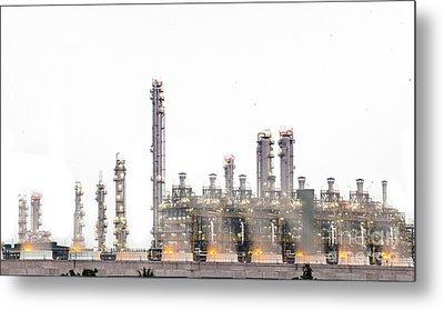 Stream Power Plant  Metal Print by Anek Suwannaphoom