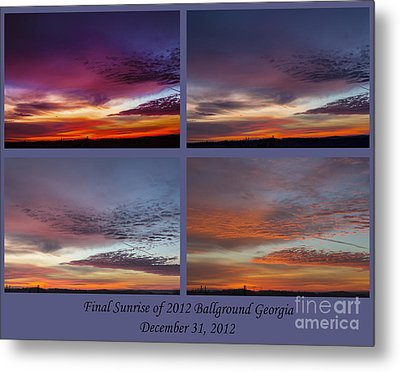 4 Views Of Sunrise 2 Metal Print