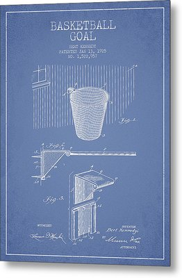 Vintage Basketball Goal Patent From 1925 Metal Print