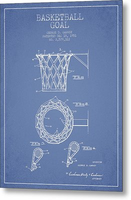 Vintage Basketball Goal Patent From 1951 Metal Print by Aged Pixel