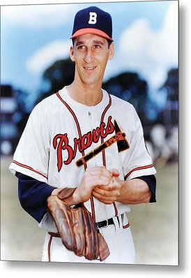 Warren Spahn Metal Print by Retro Images Archive