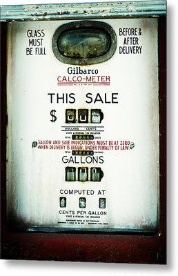 45 Cents Per Gallon Metal Print by Rebecca Sherman