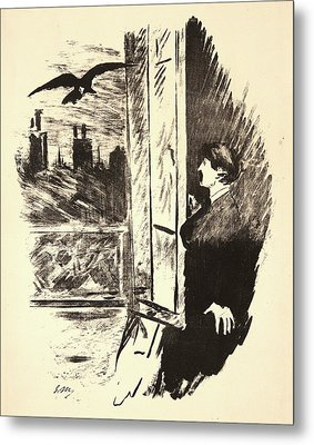 Édouard Manet French, 1832 - 1883. The Raven Le Corbeau Metal Print by Litz Collection