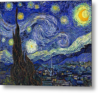 Metal Print featuring the painting Starry Night  by Vincent Van Gogh