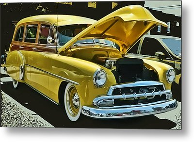 '52 Chevy Wagon Metal Print by Victor Montgomery