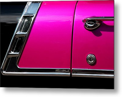 56 Chevy Two Tone Metal Print by Steve Raley