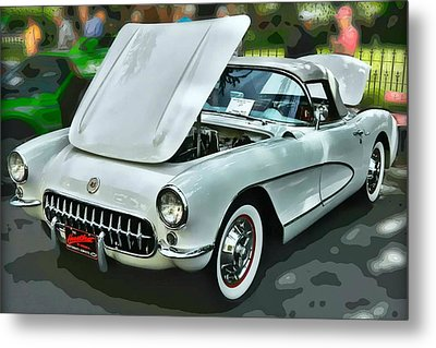Metal Print featuring the photograph '56 Corvette by Victor Montgomery