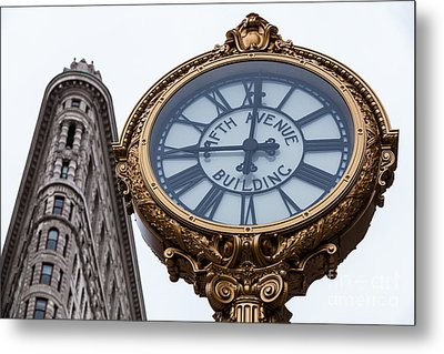 5th Avenue Clock Metal Print by John Farnan