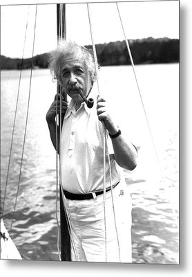 Albert Einstein Metal Print by Retro Images Archive