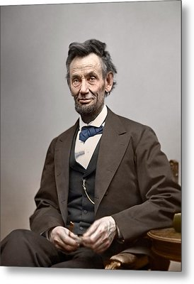 President Abraham Lincoln Metal Print by Retro Images Archive