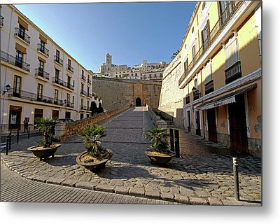 Winter Scenes Of Dalt Vila And La Metal Print