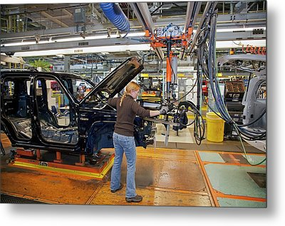 Car Production Assembly Line Metal Print by Jim West