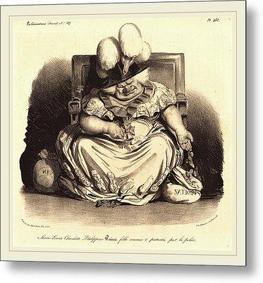 Honoré Daumier French, 1808-1879 Metal Print