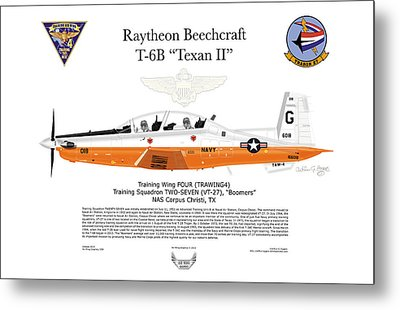 Raytheon Beechcraft T-6b Texan II Metal Print by Arthur Eggers