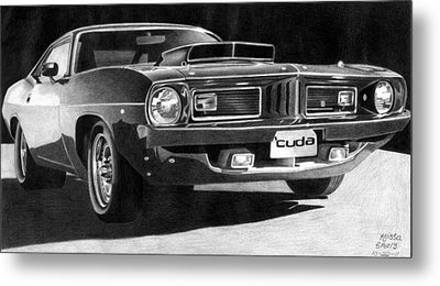 '74 Plymouth Barracuda Metal Print by Melissa Spears