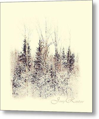 Winter Wonderland. Elegant Knickknacks From Jennyrainbow Metal Print by Jenny Rainbow