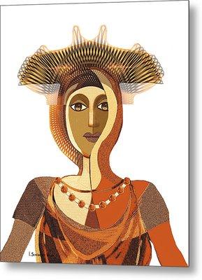 821 - Byzantine Princess Metal Print by Irmgard Schoendorf Welch