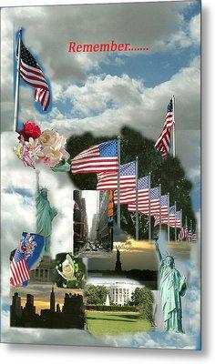 9-11 Remembrance Metal Print