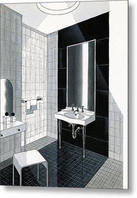 A Bathroom For Kohler By Ely Jaques Kahn Metal Print