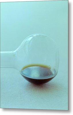 A Beaker With Vinegar Metal Print