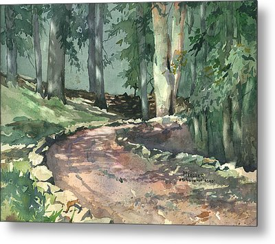 A Bend In The Road Metal Print by Spencer Meagher